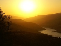 Иордания. Jordan. Sunset over a Jordanian landscape. Фото Marinad - Depositphotos