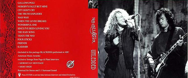 No Quarter. Jimmy Page and Robert Plant Unledded (1994)