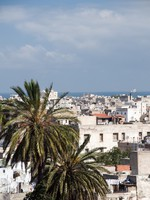 Марокко. Касабланка. Rooftop view casablanca morocco harbor and medina. Фото Robert Lerich - Depositphotos