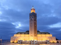 Марокко. Касабланка. Мечеть Хасана II. Great Mosque Hassan II in Casablanca, Morocc, North Africa. Фото Philip Lange - Depositphotos