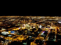 Las Vegas city viewed at night with all the lights on. Фото Andres Rodriguez - Depositphotos